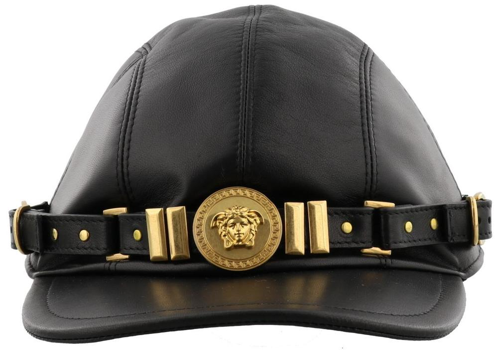 5c1b5387 Versace Medusa Leather Baseball Cap – Cettire