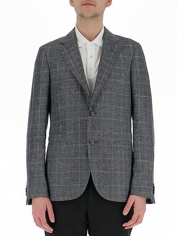 Z Zegna Plaid Patterned Blazer