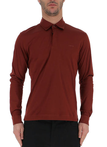 Z Zegna Long Sleeve Polo Shirt