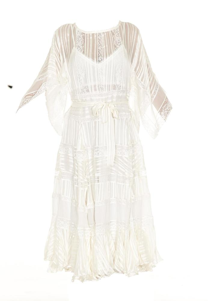 ZIMMERMANN BELTED LACE DRESS