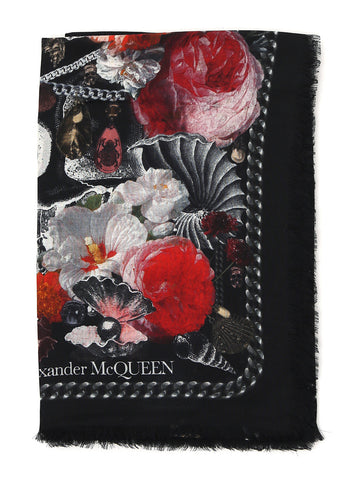 Alexander McQueen Shell Printed Scarf