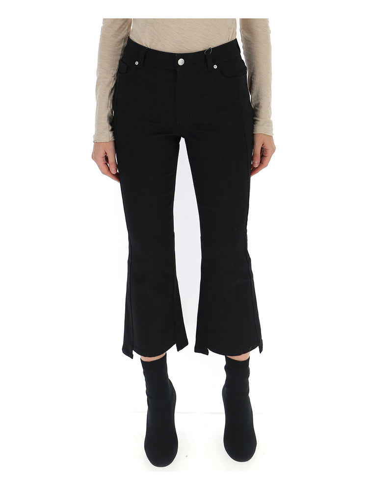 Alexander McQueen Cropped Flare Jeans