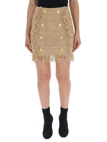 Balmain Fringed Mini Skirt