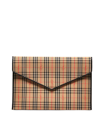 Burberry Large Envelope Check Pouch