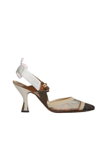 Fendi Stripe Band Slingback Pumps