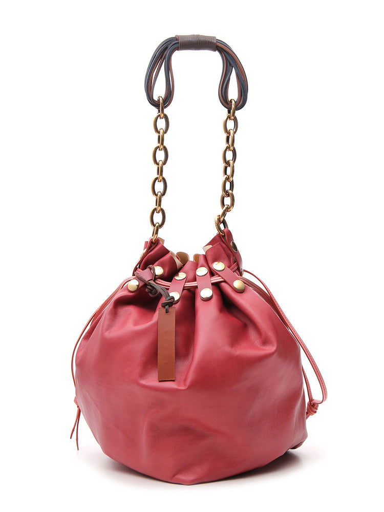 Marni Bindle Bucket Bag In Pink