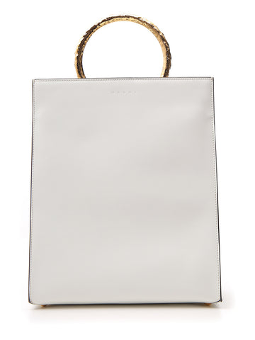 Marni Structured Gold Handle Tote Bag