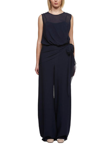 Max Mara Jabot Sleeveless Jumpsuit