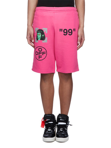 Off-White Green Man Shorts