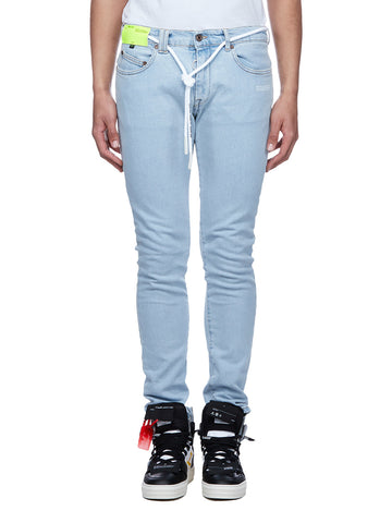 Off-White Tie Skinny Jeans