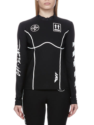 Off-White Graphic Print Long Sleeve Top