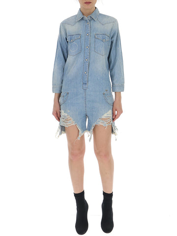 R13 Distressed Playsuit