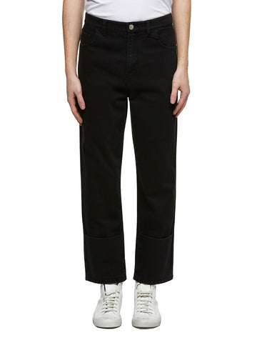 Raf Simons Logo Patch Cropped Jeans