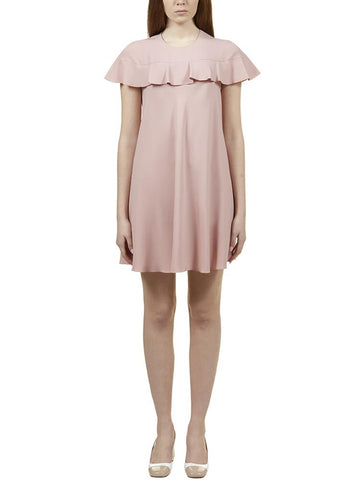Red Valentino Ruffle Mini Dress