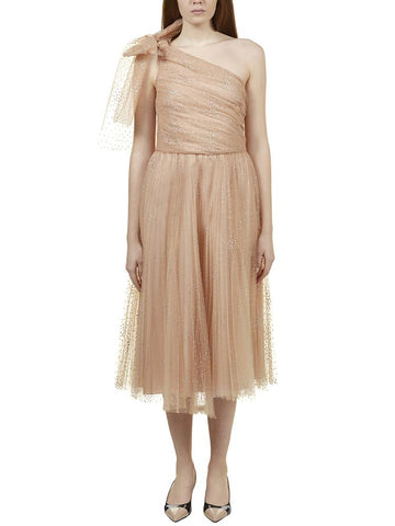 Red Valentino One-Shoulder Layered Dress