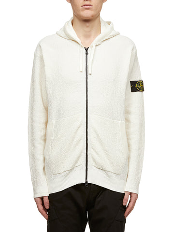 Stone Island Logo Patch Zip-Up Hoodie