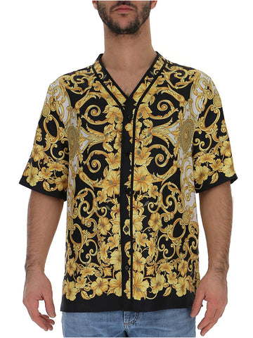Versace Printed Button-Up Shirt
