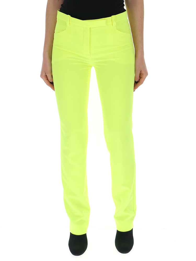 Versace Fluro Peg Trousers In Yellow