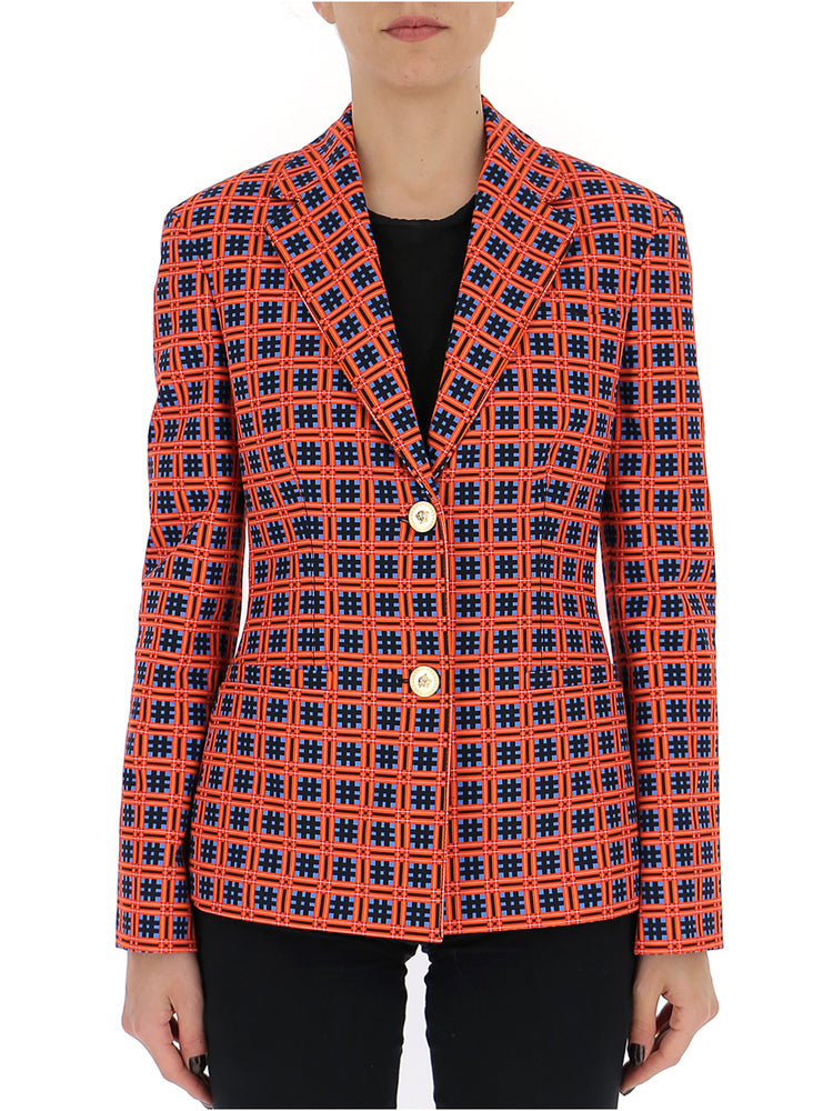Versace Downs VERSACE PATTERNED TAILORED BLAZER