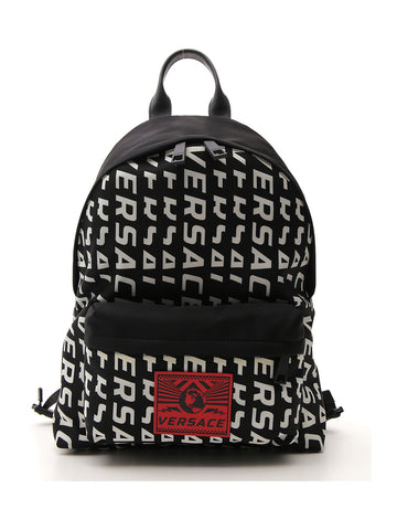 Versace All Over Logo Backpack