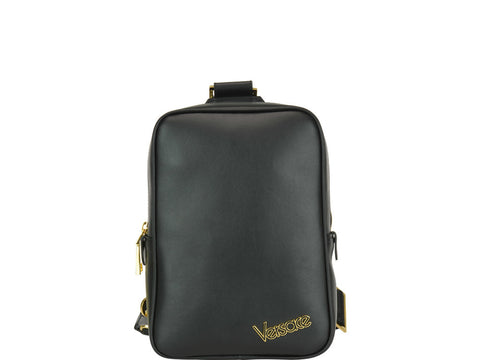 Versace Zipped Logo Messenger Bag