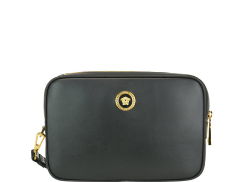 Versace Zipped Medusa Logo Clutch Bag