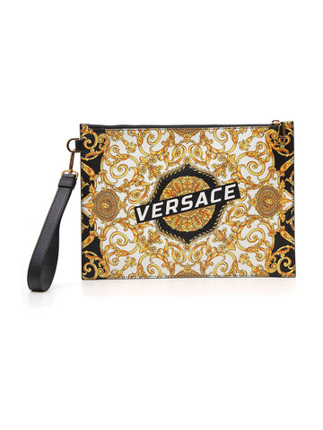 Versace Logo Printed Pouch