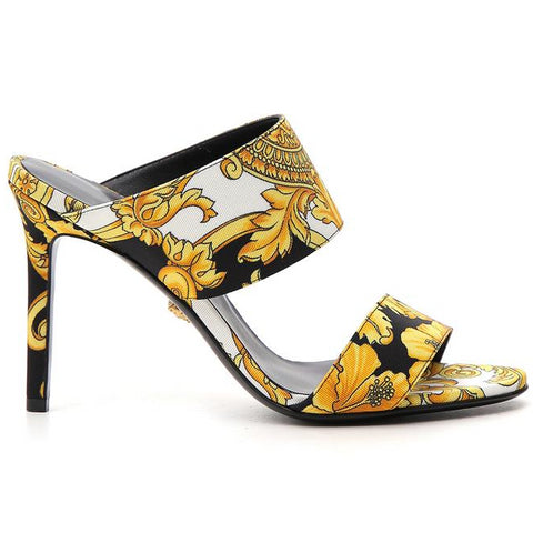 Versace Baroque Print Mules