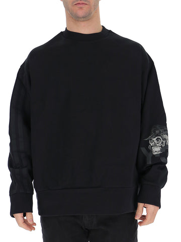 Y-3 Skull Sleeve Print Sweater