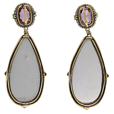 Alexander McQueen Frame Pendant Earrings
