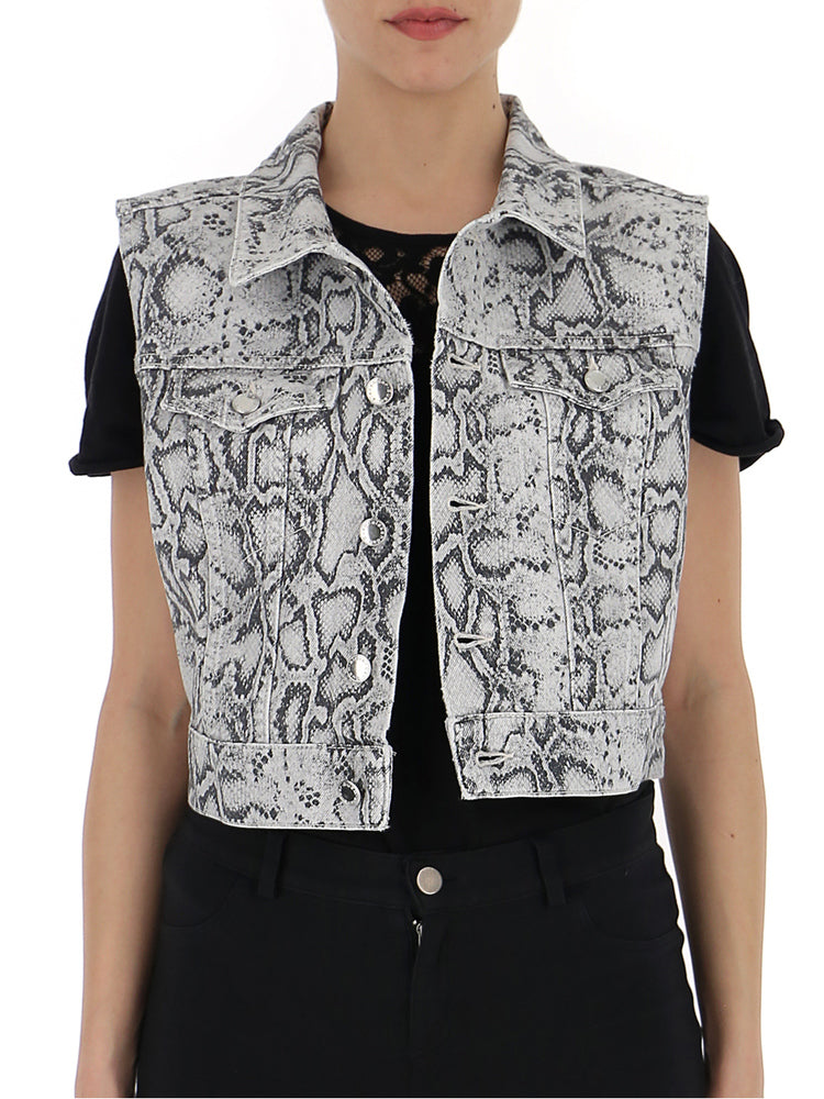 2474d9a61454 Alexander Wang Cropped Python Print Vest In Multi | ModeSens