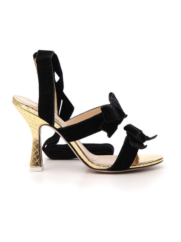 Attico Bow Detail Strappy Sandals