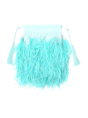 Attico Feathers Clutch Bag