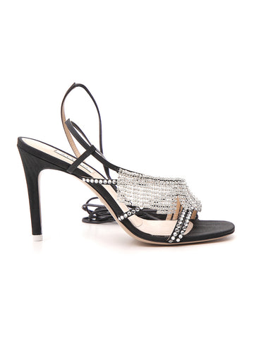 Attico Crystal Embellished Sandals