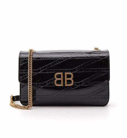 Balenciaga BB Logo Imprinted Shoulder Bag