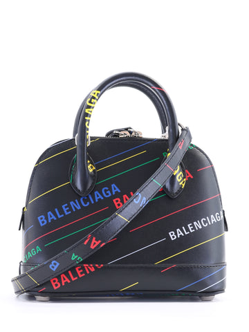 Balenciaga All-Over Logo Tote Bag