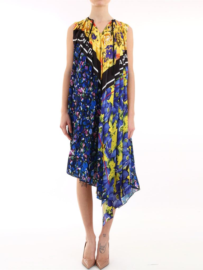 Balenciaga Scarf Printed Dress
