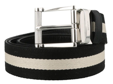 Bally Tamal Reversible Striped Belt