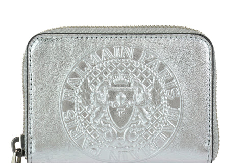 Balmain Logo Embossed Coin Pouch
