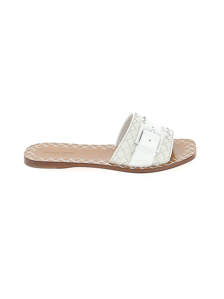 Bottega Veneta Slippers BOTTEGA VENETA WOVEN BUCKLE SLIDES
