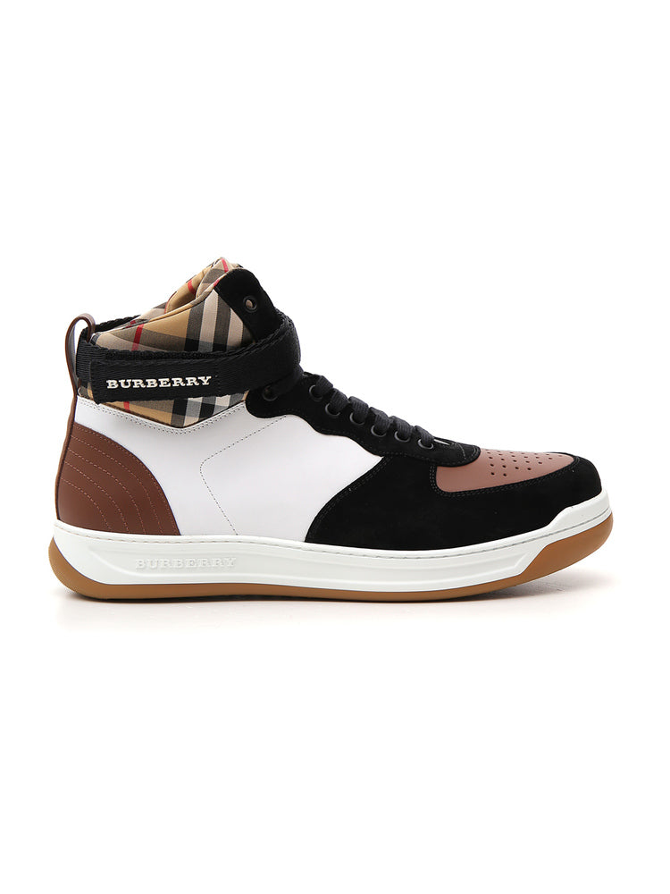 330129a604b Burberry Dennis Checked Sneakers In Multi
