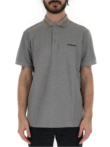 Burberry Striped Collar Polo Shirt