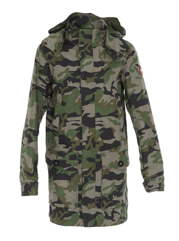Canada Goose Crew Camouflage Hooded Trench Coat