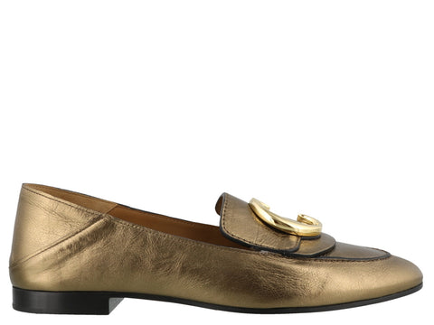 Chloé C Metallic Loafers