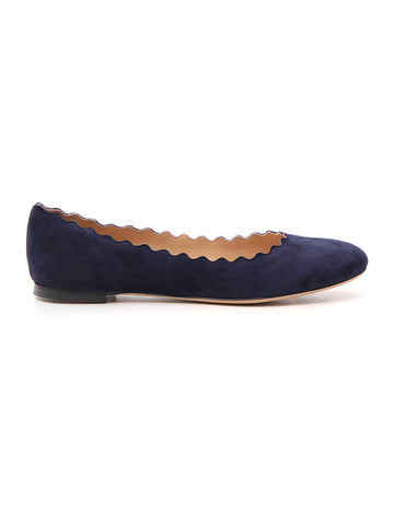 Chloé Scalloped Ballerina Flat Shoes