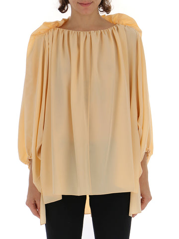 Chloé Gathered Long Sleeve Blouse