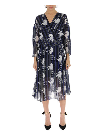 Chloé Horse Print Wrap Dress