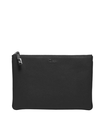 Dior Homme Grained Leather Clutch Bag