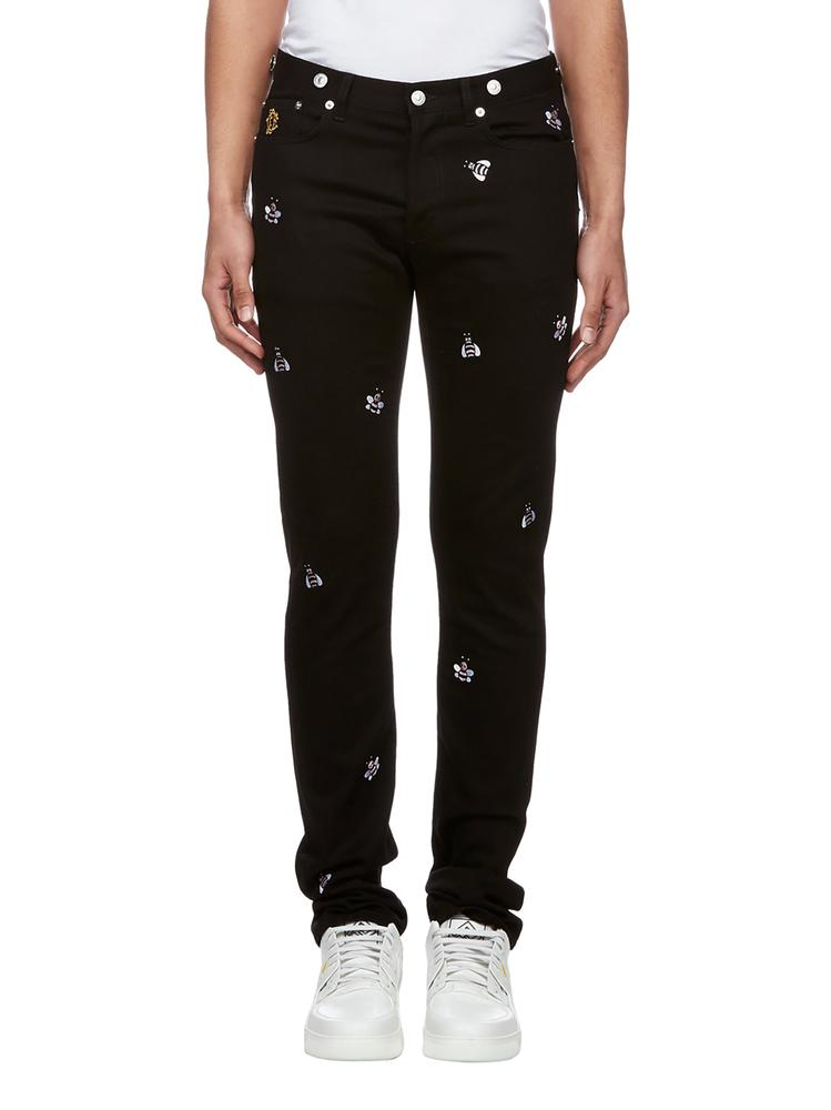 Dior Homme Jeans DIOR HOMME X KAWS BEE EMBROIDERED JEANS
