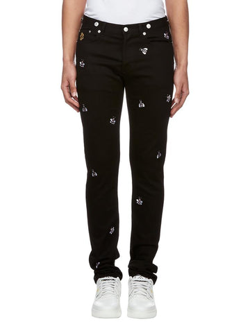 Dior Homme X KAWS Bee Embroidered Jeans
